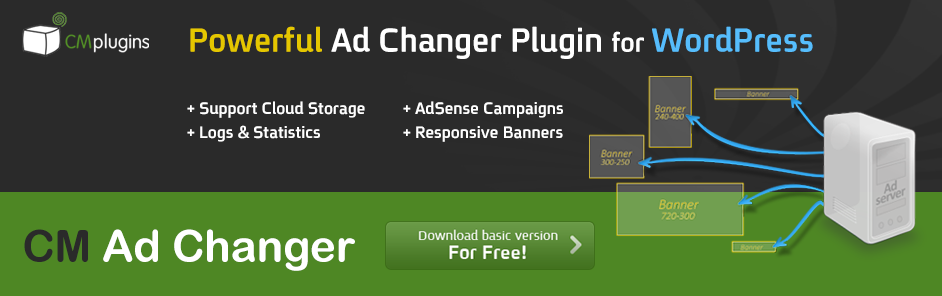 CM Ad Changer - A Server Plugin to Display Ads in WordPress