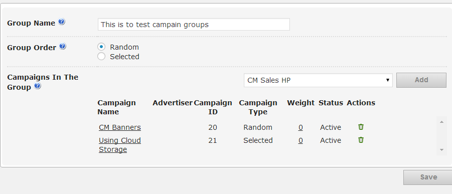 Ad-Changer campaign group Setting- WordPress Ads Campaigns
