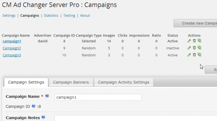 The CM Ad Changer plugin has a server side dashboard interface for controlling multiple ads on multiple websites.